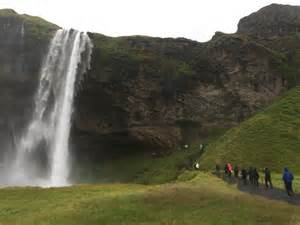 Seljalandsfoss and sk 243 gafoss waterfalls in iceland