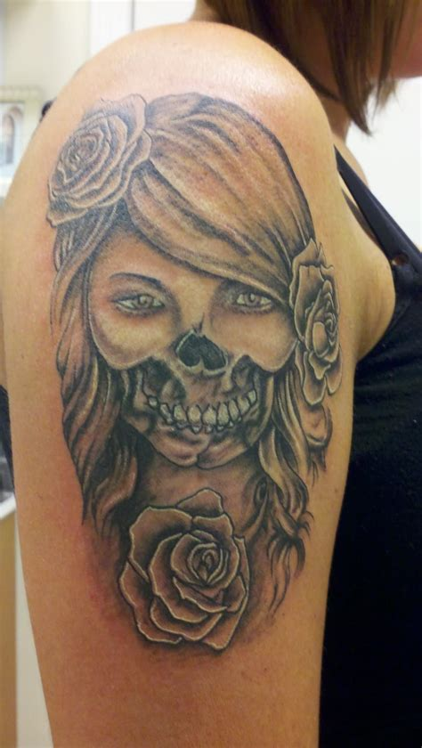 skeleton face tattoo day of the dead images designs