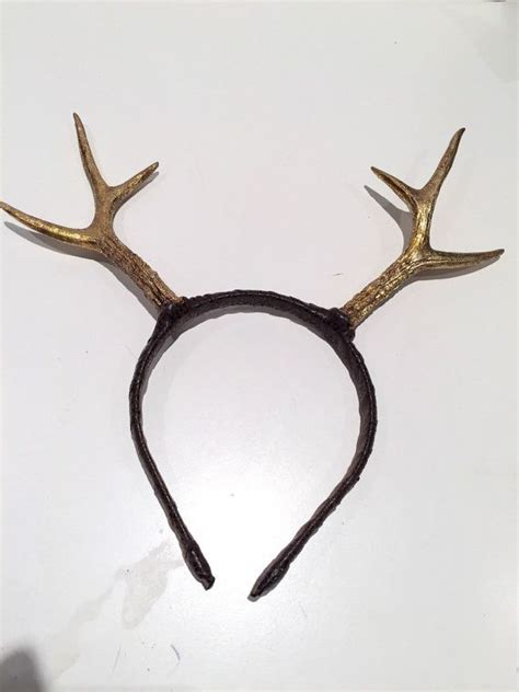 gold antlers antler headband deer headpiece gold