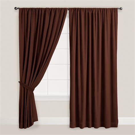 brown tab top curtains brown velvet dual tab top curtain world market