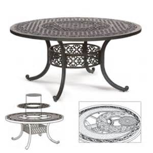 Lazy Susan For Patio Table Athena 60 Rotating Patio Table With Built In Lazy Susan Ring 1601 By Meadow Decor At
