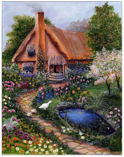 Cottage Paintings by Cottage Painting Cottage Print