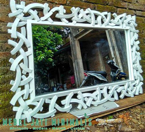 Cermin Minimalis cermin dinding minimalis putih duco mebel jati minimalis
