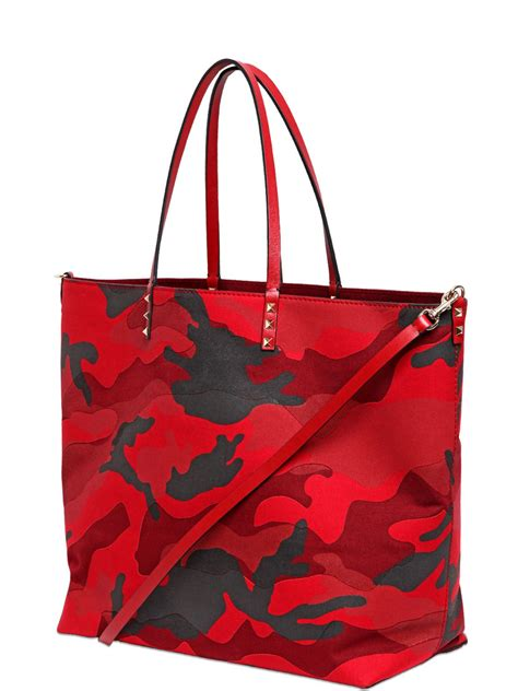 Patchwork Tote Bags - valentino camouflage patchwork tote bag in lyst