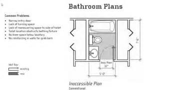 3 4 Bath Floor Plans by Accessible Bathroom Floor Plans Trend Home Design And Decor