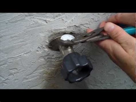 Mansfield Anti Siphon Outdoor Faucet Repair by How To Fix A Leaky Free Sillcock Outdoor Faucet How To Save Money And Do It Yourself