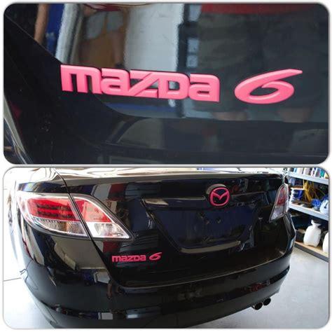 mazda car emblem mazda 6 black with pink emblems california custom dips