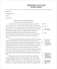 Exle Of A Rhetorical Essay by Analysis Essay Exle 7 Exles In Pdf Word