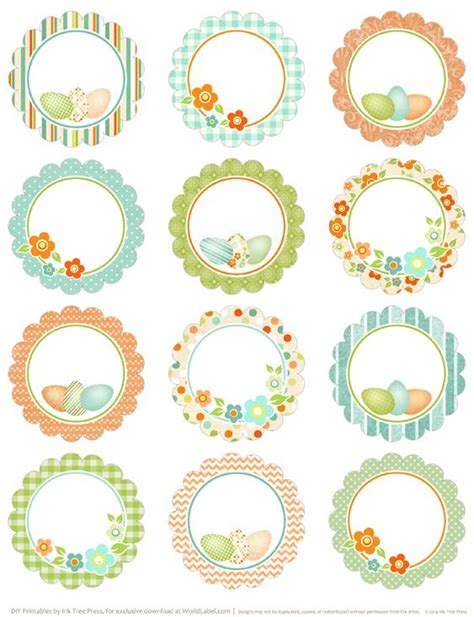 spring cupcake toppers and labels free on pinterest