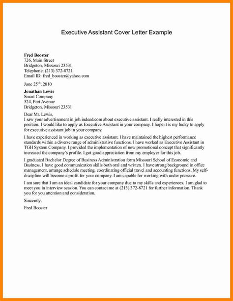 assistant resume cover letter 8 administrative assistant cover letter exle