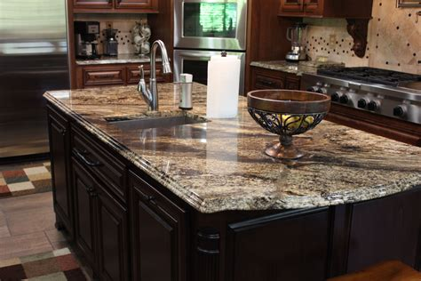 Granite Kitchen Countertop Beautiful Granite Countertops That We Fabricated And Installed Color