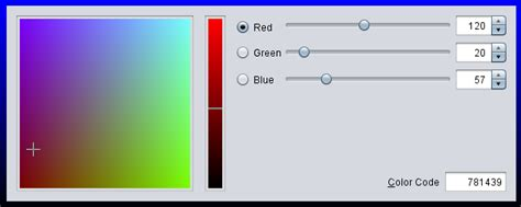 java color codes swing rgb only jcolorchooser java 7 stack overflow