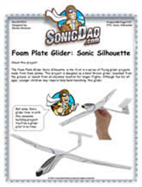 Sonic Silhouette Foam Plate Glider Sonicdad Micro Boomerang Template
