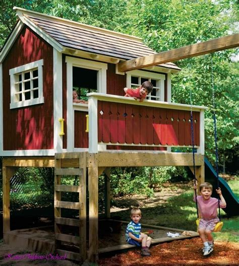 playhouse swing swing set playhouse plans woodworking projects plans