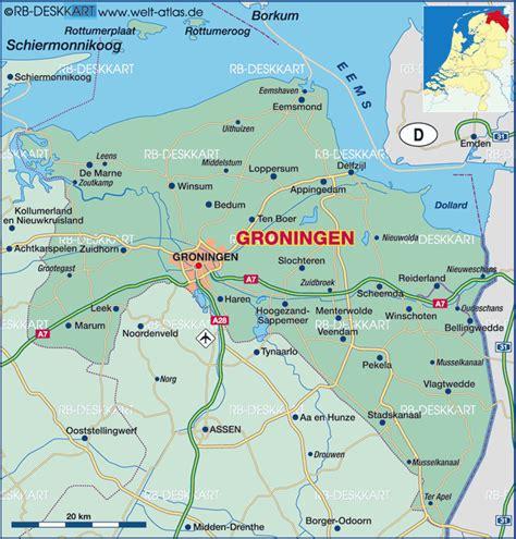 netherlands map groningen map of groningen netherlands map in the atlas of the