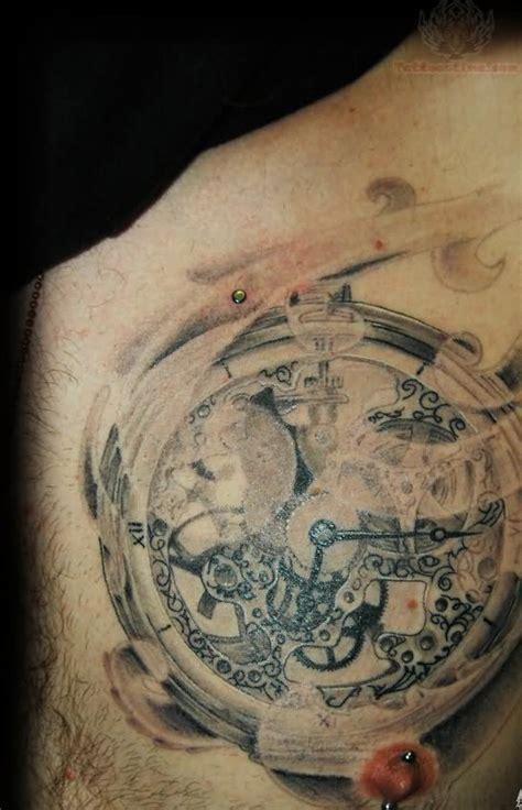 tattoo chest clock clock tattoo images designs