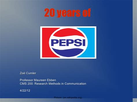 introduction of pepsi slideshare 20 years of pepsi