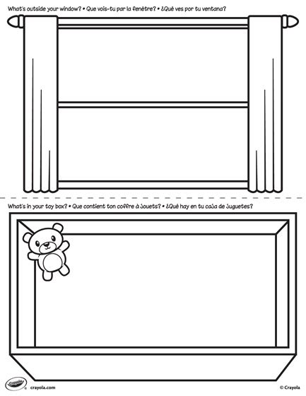 Coloring Box By Dimen Shop pages window and box coloring page crayola