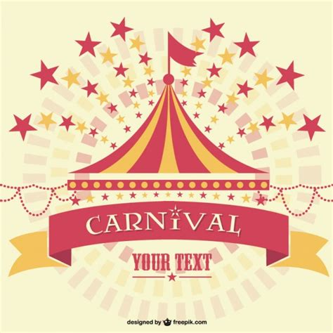 carnival marquee background template vector free download
