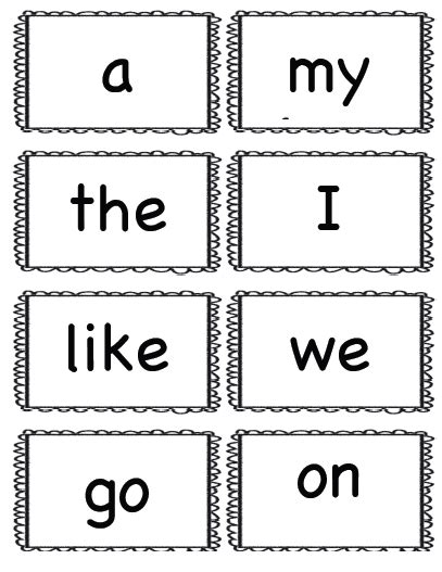 printable flash cards kindergarten sight words kindergarten kids at play freebie kindergarten sight