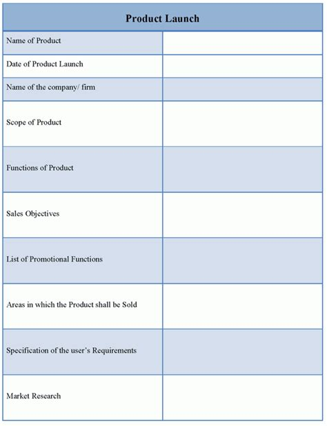 template for product launch exle of product launch