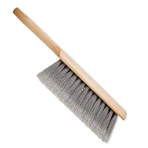 bench brush bench brush wood and nylon brown and grey 13 3 4 inches