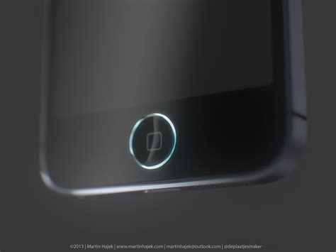 iphone 5s concept shows a home button with a ring light