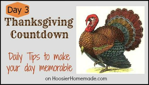 thanksgiving countdown day 3 decorating with printable banner hoosier homemade