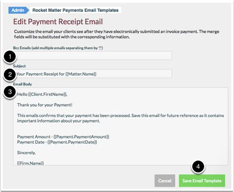 credit card payment email template how edit a payment receipt email template rocket