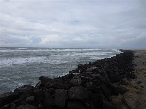 fort stevens south jetty of the columbia river oregon