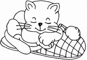 sleeping coloring page free coloring pages of sleeping cat