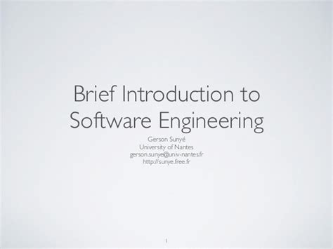 brief introduction of brief introduction to software engineering
