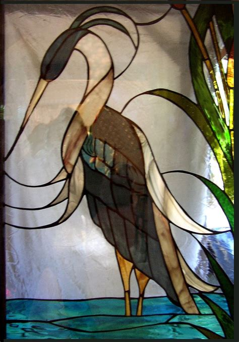 stained glass pattern blue heron 61 best stained glass birds herons egrets images on