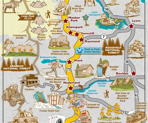 colorado springs tourist attractions map colorado springs map tourist attractions map travel