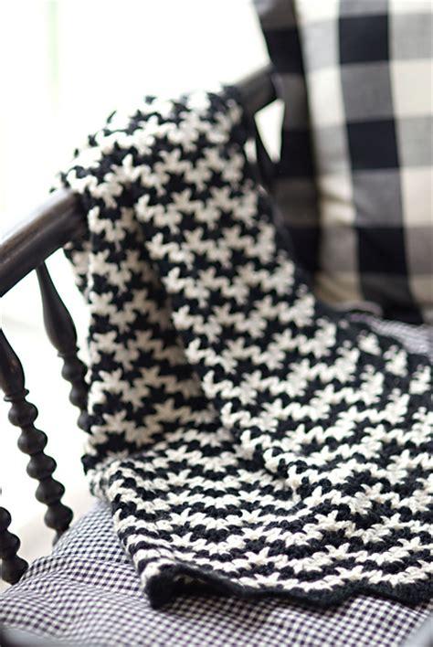 black and white knit pattern blij dat ik brei dekentje