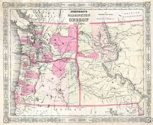 map of idaho and oregon file 1864 johnson map of washington oregon idaho