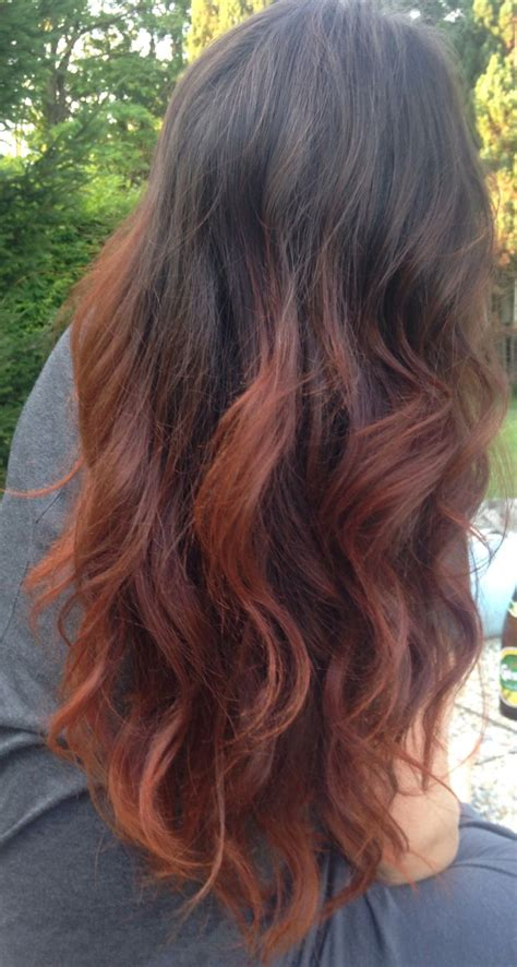 dyed hairstyles for black hair red hair with black dip dye www pixshark com images