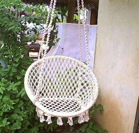 Hanging rope round hammock swing chair buy round hammock hanging rope chair indoor hammock