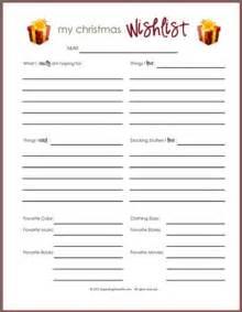 printable christmas gift wish list christmas ideas