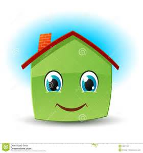 Green Small House Plans smiley house vector icon stock image image 19417471
