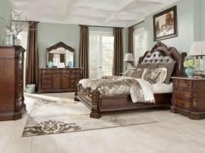 king bedroom sets image: ledelle king sleigh bedroom set by ashley furniture