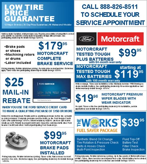 ford coupons for change service 171 springs ford s