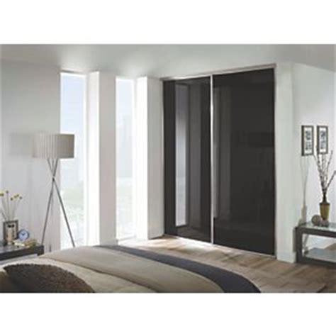 spacepro 2 door framed glass sliding wardrobe doors black