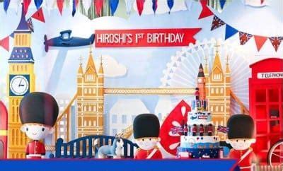 london themed boys  birthday party spaceships  laser beams