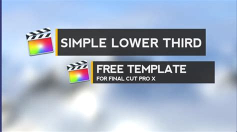 cut pro lower thirds templates free titles for cut pro x