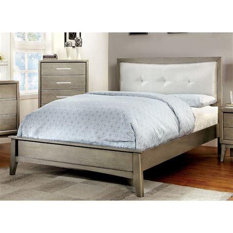 tufted platform bed king furniture of america carmen king tufted platform bed in