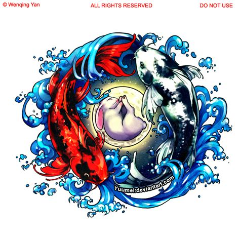 twin dragon tattoo designs koi commission by yuumei on deviantart