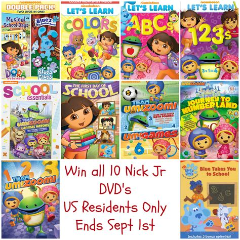 Nickelodeon Giveaway - nickelodeon back to school dvd roundup giveaway annmarie john