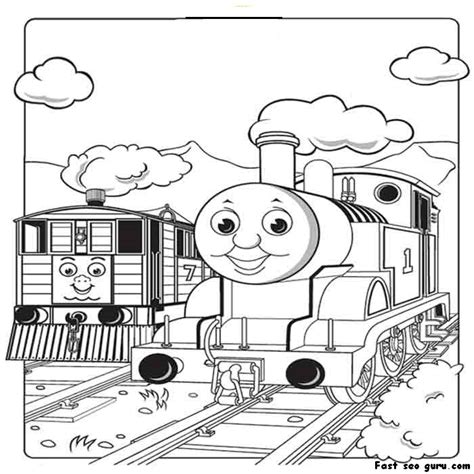 print out pictures of toby the tram engine thomas the