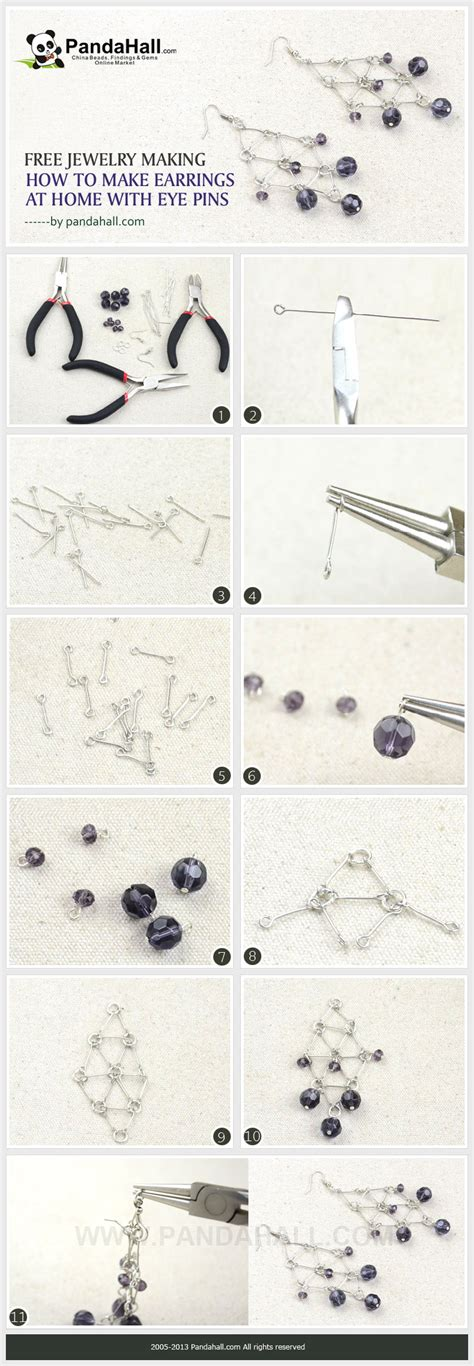 how to make jewelry at home how to make earrings at home with eye pins by jersica11 on